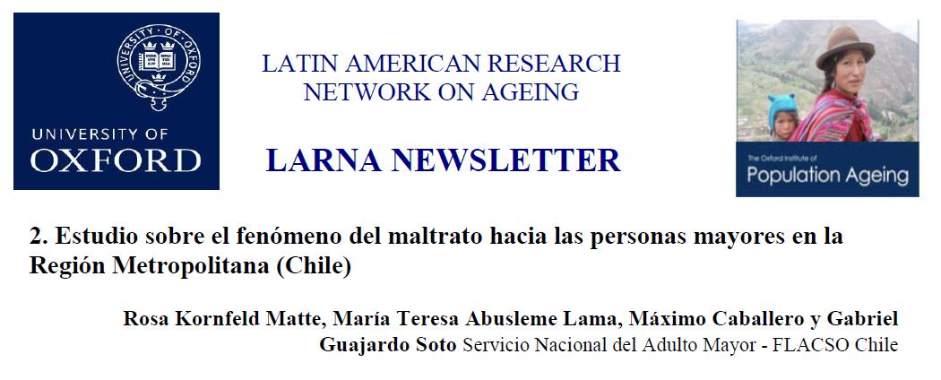 Oxford Institute of Population Ageing de la Universidad de Oxford destaca avances de investigación de FLACSO-Chile y SENAMA