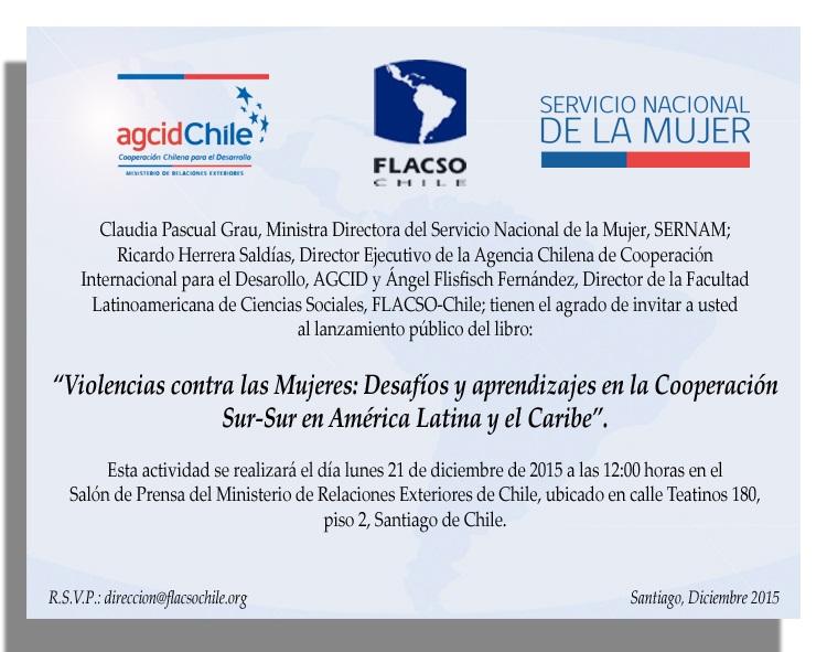 Invitación Presentación Libro CVM y Cooperación Sur-Sur 21 diciembre 12 horas