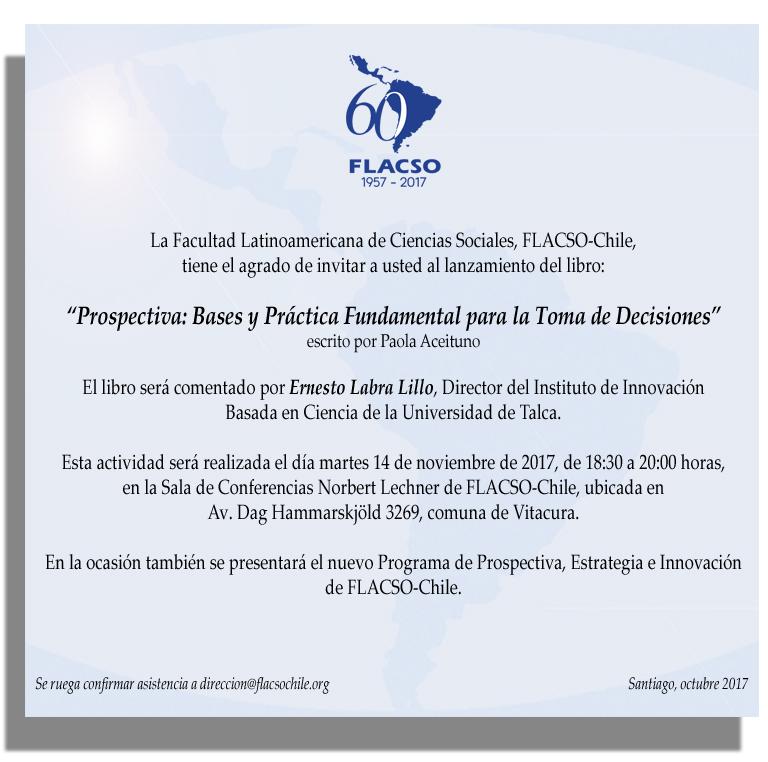 invitación presentación libro prospectiva