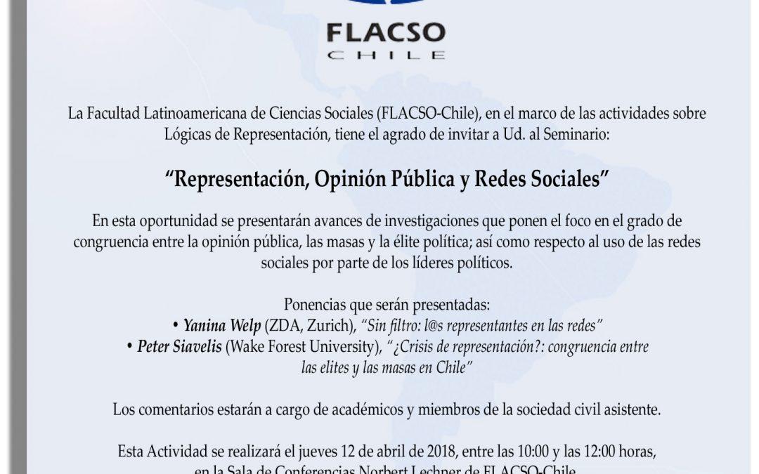 """Seminario """"Representación, Opinión Pública y Redes Sociales"""""""