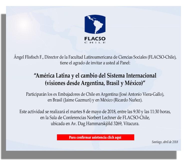 """Panel """"América Latina y el cambio del Sistema Internacional (Visiones desde Argentina, Brasil y México)"""""""
