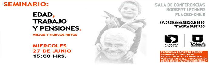 """Seminario """"Edad, Trabajo y Pensiones. Viejos y nuevos retos"""""""