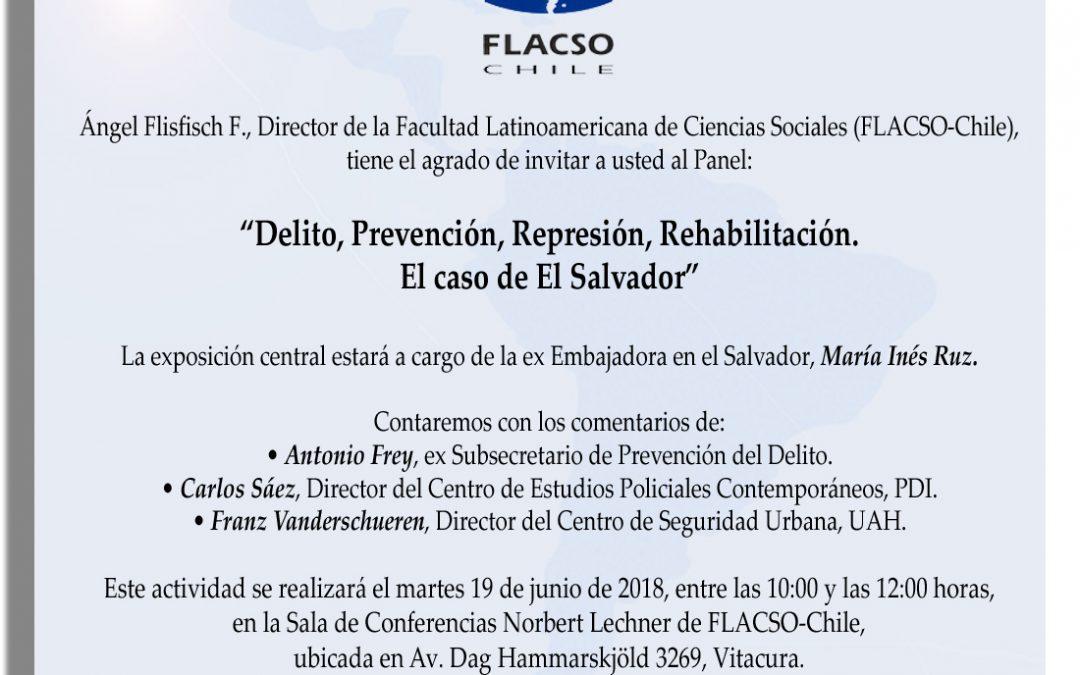"""Panel """"Delito, prevención, represión, rehabilitación. El caso de El Salvador"""""""