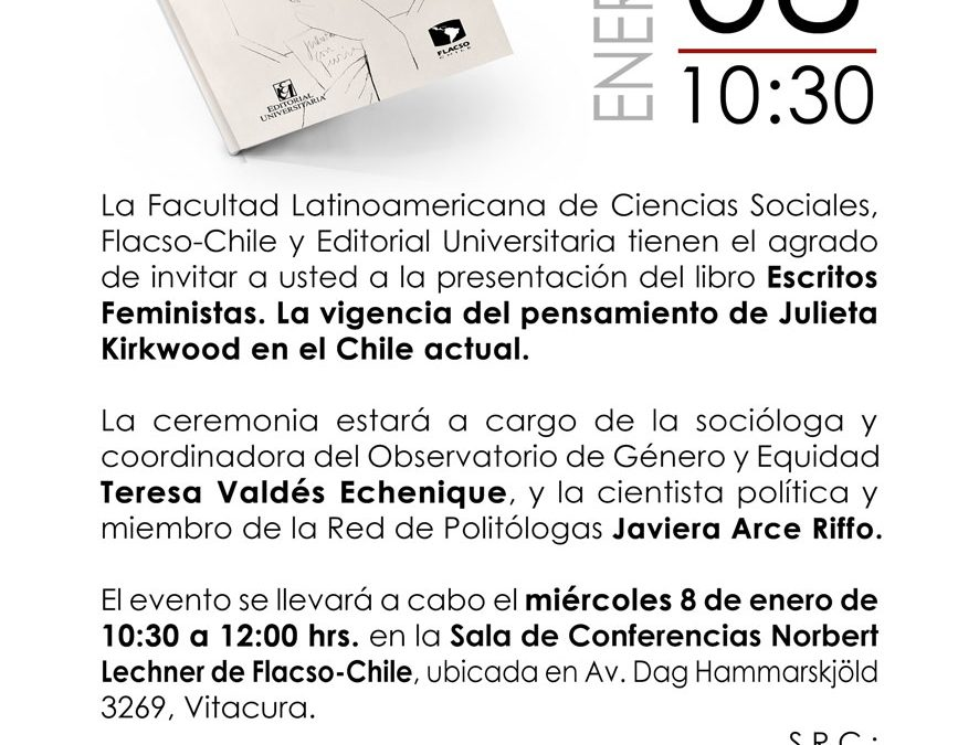 """Presentación Libro """"Escritos Feministas. La vigencia del pensamiento de Julieta Kirkwood en el Chile actual"""""""