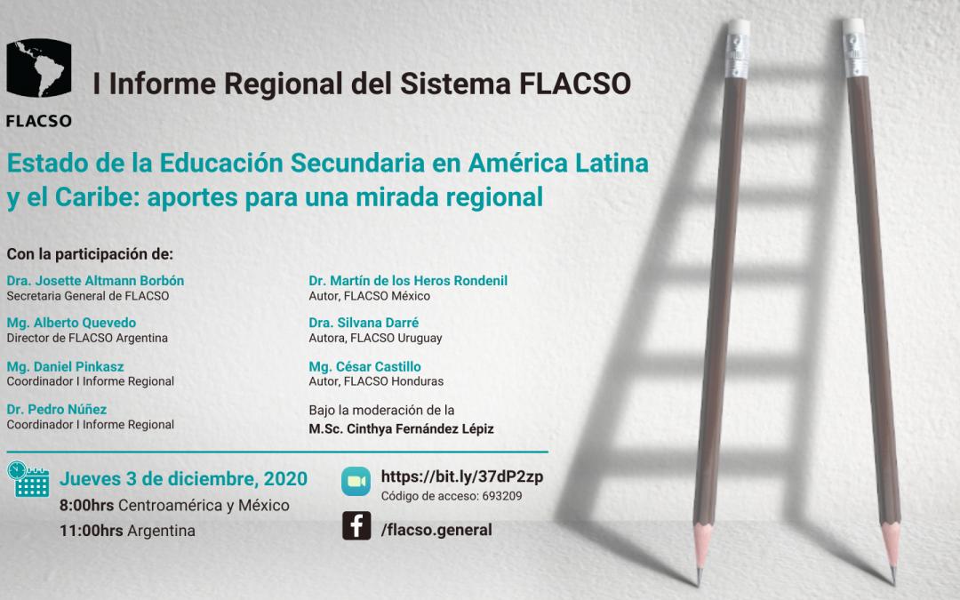 """Presentación del I Informe Regional """"Estado de la educación secundaria en América Latina y el Caribe: aportes para una mirada regional"""""""